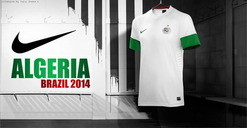 Cm le maillot officiel de l 39 quipe d 39 alg rie de football coupe du monde brazil 2014 - Algerie allemagne coupe du monde 2014 ...