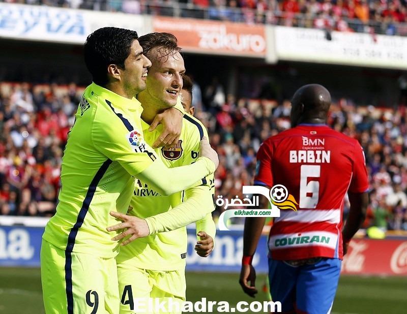 برشلونة يفوز على مضيفه غرناطة بنتيجة 3-1 ضمن منافسات الجولة 25 من الدوري الإسباني